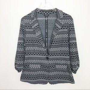 Boho Retro Soho Apparel Tribal Print blazer Jacket